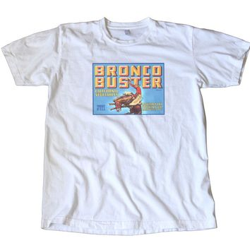 Bronco Buster Crate Label T-Shirt - Rodeo!