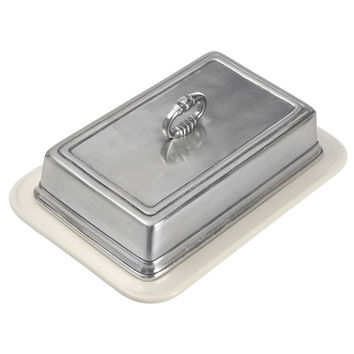 Match Pewter Convivio Double Butter Dish with Cover