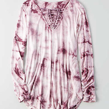 AEO Soft & Sexy Knotted T-Shirt , Mauve