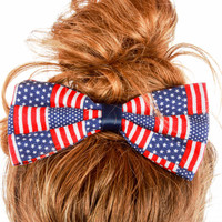 "American Flag ""We Can Do It"" Hair Bow"