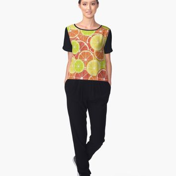 'Citruses' Women's Chiffon Top by valezar