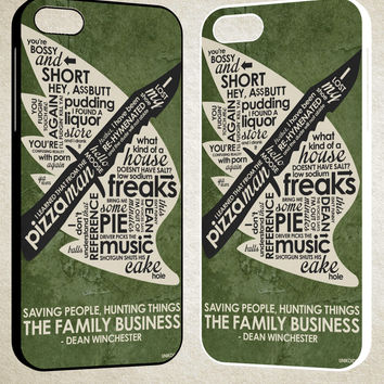 Supernatural Inspired Quote F0673 iPhone 4S 5S 5C 6 6Plus, iPod 4 5, LG G2 G3, Sony Z2 Case