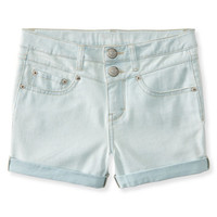 Kids' Soooo Stretchy Light Wash High-Waisted Shorty Shorts - PS From Aeropostale