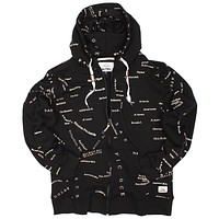 Altru Apparel San Francisco City Map Zip Hoodie. (Loop Terry)