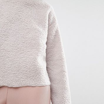 Native Youth Fleece Minimal Crew Neck Sweatshirt at asos.com