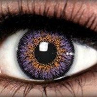 Diamond Violet Heart Colored Contacts by ExtremeSFX