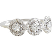 Diamond & White Gold Triple Solitaire Ring