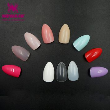 120pcs Stiletto Fake Nails with Designs Faux Ongles Full Cover False ABS Nails Artificial Tips 15 Different Colors Optional