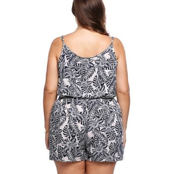 Shop Online Plus Size Floral Print Rompers – Playsuits For Women's