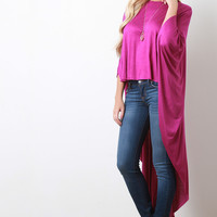 High-Low Poncho Top
