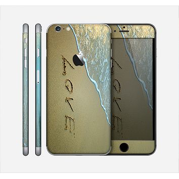 The Love beach Sand Skin for the Apple iPhone 6 Plus