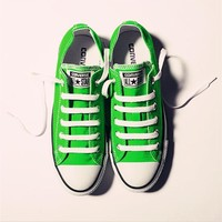 Converse All Star Sneakers leisure comfort shoes for Unisex sports Green