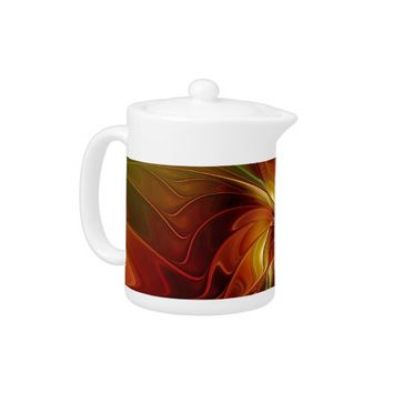 Warmth, Abstract Fractal Art Teapot