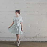 Peter Pan Collar Mint Dress