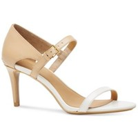 Calvin Klein Women's Luigiana Two-Tone Strappy Dress Sandals | macys.com