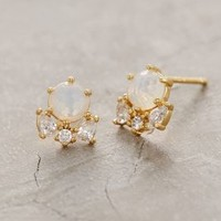 Serpa Cluster Posts by Anthropologie in Moonstone Size: One Size Earrings