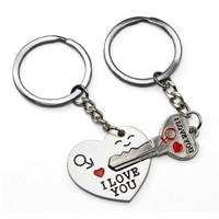 World Pride Couple Keychain Set (The Key to My Heart)