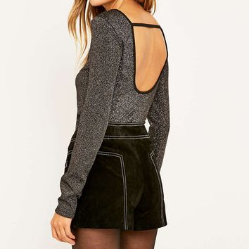 Sparkle & Fade Lurex Scoop Back Top - Urban Outfitters