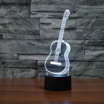 Classic Guitar 3D LED Night Light Lamp