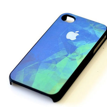Abstract Watercolor iPhone Case - Blue Green