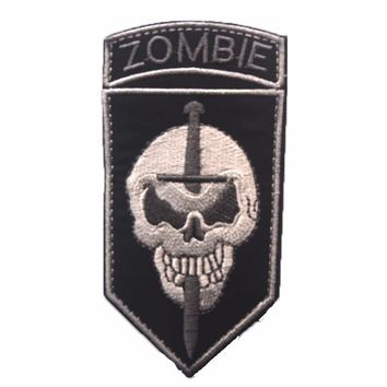 Zombie Hunter killer team tactics to deal with epidemic embroidery the tactical military patches badges HOOK/LOOP 10*5CM