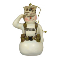 USMC Combat Snowman Christmas Ornament | The Marine Shop