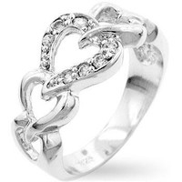 Linked Hearts Eternity Ring, size : 06