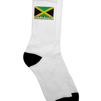 Jamaica Flag Adult Crew Socks