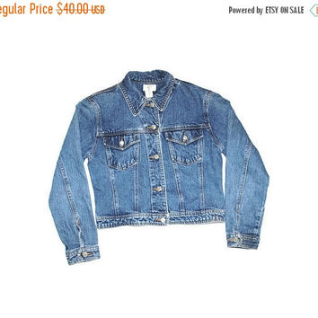 90s relaxed fit denim jacket vintage classic GAP denim jacket medium