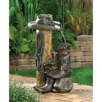 Ranch Style Wild Western Water Fountain Garden Accent