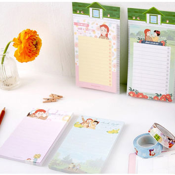 Anne of green gables checklist memo notepad