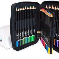 ColorIt High Quality Colored Pencils Set of 48 Includes Premium Colored Pencils Case and Box - Perfect Creative Art Coloring Pencils for Adults Looking for a Colorful Color Pencil Set