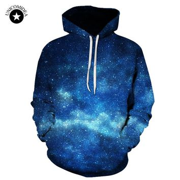 Unicomidea Galaxy Night Sky 3D Sweat Shirt Long Sleeve Men/Women Hooded