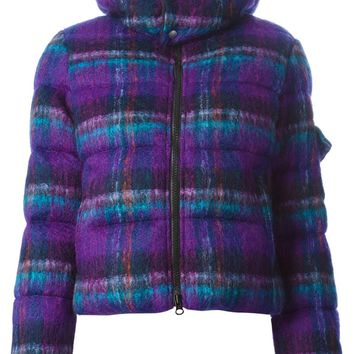 Junya Watanabe Comme Des Garçons check pattern padded hooded jacket