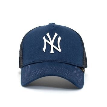 Trucker Hat - New York Blue/White