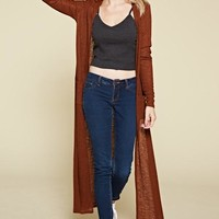 Long Sleeved Brown Cardigan