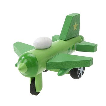 Multi-pattern Creative Toys Export Children Diecast Mini Wooden Airplane Kids Baby Educational Gift Random Color