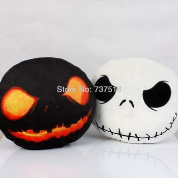 The Nightmare Before Christmas Jack Face & Halloween Edition Dark Evil Jack Plush Pillow Stuffed Expression Cushions 2pcs New