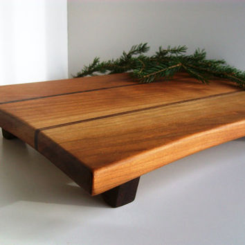 Cutting Board, Sushi Board, Cheese Tray in Vermont Cherry and Black Walnut