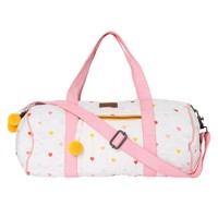 I HEART YOU RAINBOW QUILTED DUFFLE BAG - SHOP