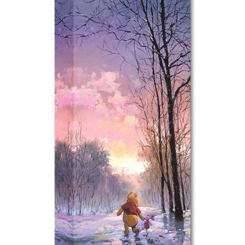 Pooh & Piglet Snowy Path Limited Edition Wrapped Canvas