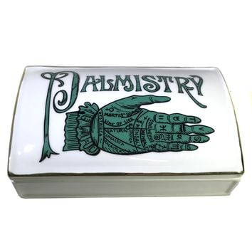 Palmistry Ceramic Box