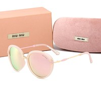 Miu Miu Stylish Ladies Summer Sun Shades Eyeglasses Glasses Sunglasses Pink I-HWYMSH-YJ