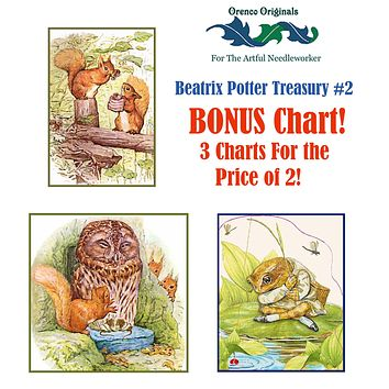 Beatrix Potter Deluxe Treasury#2-Three Counted Cross Stitch Patterns Charts