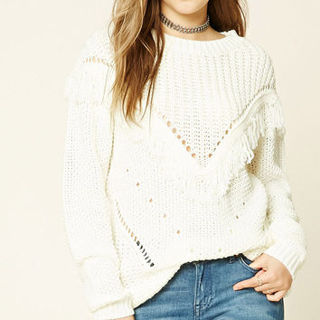 Tassel-Trimmed Sweater