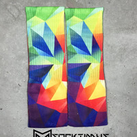 Triangle Iphone background - Custom Sublimated Socks - Socktimus Prime