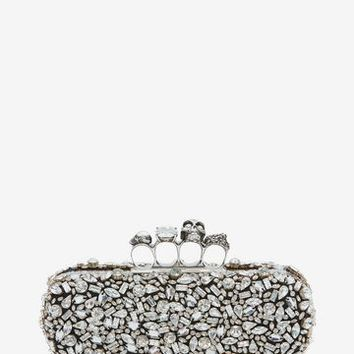 Crystal Skull Four Ring Box Clutch | Alexander McQueen