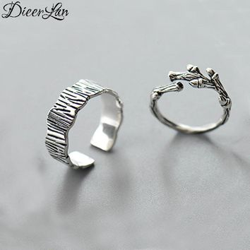 Vintage Branch 925 Sterling Silver Rings for Women Adjustable Size Ring Fashion sterling-silver-jewelry