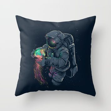 Jellyspace Throw Pillow by Angoes25