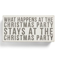 Primitives by Kathy 'Christmas Party' Box Sign   Nordstrom